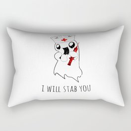 Halloween Costume I Will Stab You Nurse Gift Rectangular Pillow