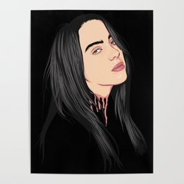 Billie Eilish Vectorized Poster