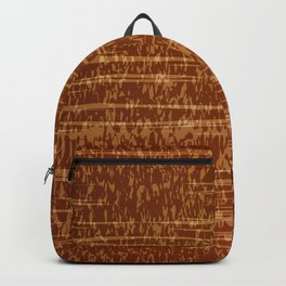 Vector grunge texture in orange colot. Tree bark Backpack