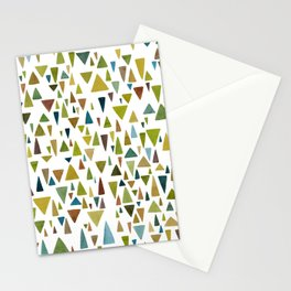 Watercolor triangle fantasy in nature colors Stationery Cards