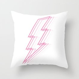 Pink Lightning Bolt Throw Pillow