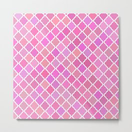 Purple Moroccan Pattern Metal Print