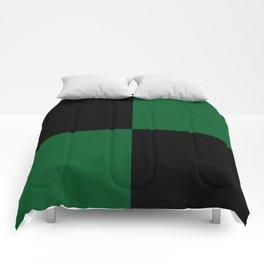 Big mosaic dark green - black Comforters