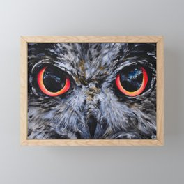 Sight: The Eyes of an Eagle Owl Framed Mini Art Print