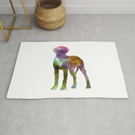 Rhodesian Ridgeback in watercolor Rug