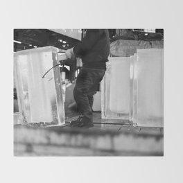 Unloading Ice, Tokyo, Japan Throw Blanket