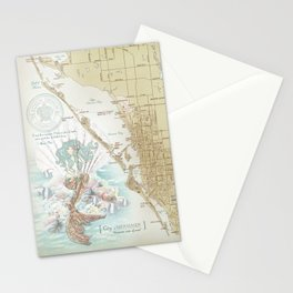 Anais Nin Vintage Mermaid Map Stationery Cards