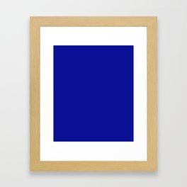 Cadmium Blue - solid color Framed Art Print