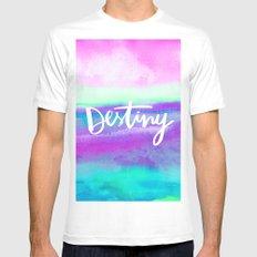 Destiny [Collaboration with Jacqueline Maldonado] MEDIUM Mens Fitted Tee White