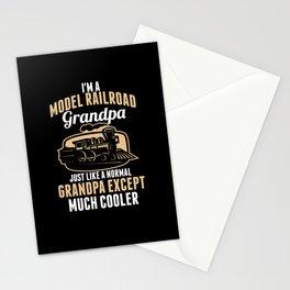 Model Train Grandpa Stationery Cards