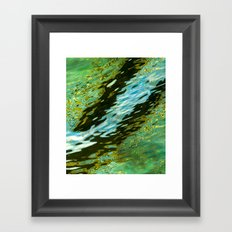 water reflection abstract Framed Art Print