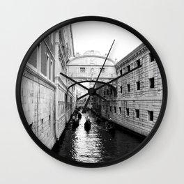 Venice Bridge of Sighs. Italy Wall Clock