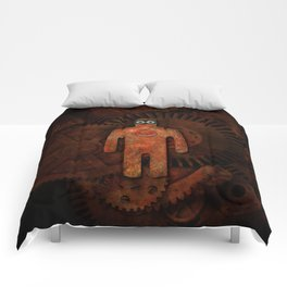 Rust Man - Steampunk Super Hero Comforters