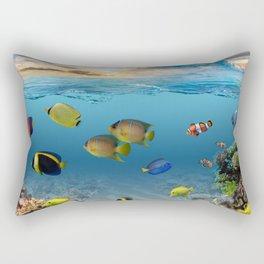 Underwater Ocean Tropical Coral Reef Rectangular Pillow