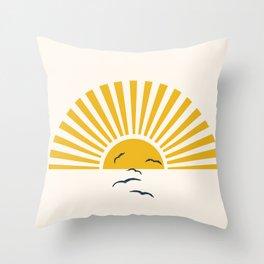 Minimalistic Summer I Throw Pillow