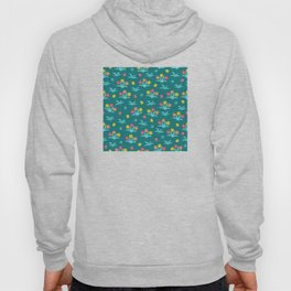 Easter Flower Pattern With Tiny Easter Eggs Hoody