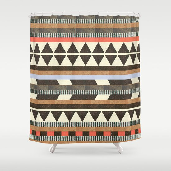 DG Aztec No.1 Shower Curtain