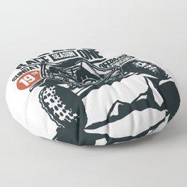 ATV Dirt Race Floor Pillow