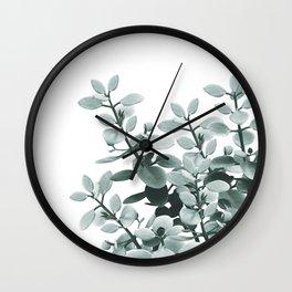Eucalyptus Leaves Green Vibes #1 #foliage #decor #art #society6 Wall Clock