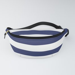 Navy Blue and White Stripes Fanny Pack