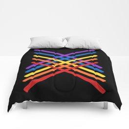 Retro Musician Drum Sticks Comforters