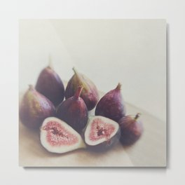 Fig print. A Little Figgy Metal Print