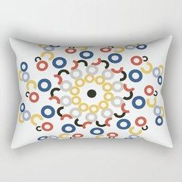 Mondriaan Mandala Rectangular Pillow