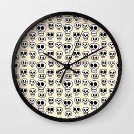 Skulls Drawings Wall Clock