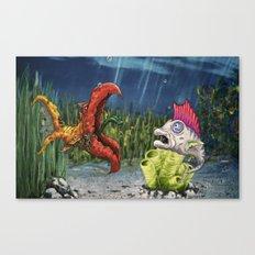 mutant and punk fish Canvas Print