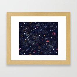 Space Galaxy Framed Art Print