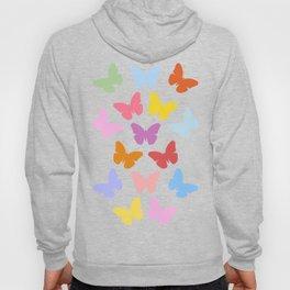 Multicoloured Butterflies Pattern Hoody