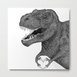 Dino Love Metal Print