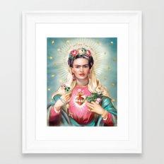 Saint Frida Kahlo Framed Art Print