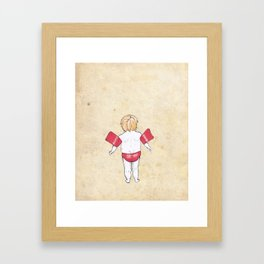Would the next Michael Phelps please stand up? Framed Art Print