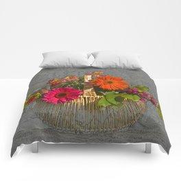 Flower Basket Still Life Comforters