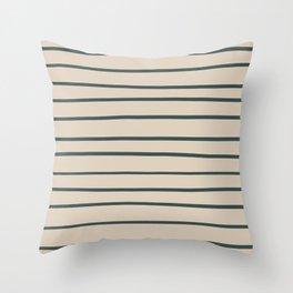 Night Watch PPG1145-7 Hand Drawn Horizontal Stripes on Sourdough Beige Tan PPG1084-3 Throw Pillow