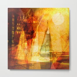 Coming home to harbour Metal Print