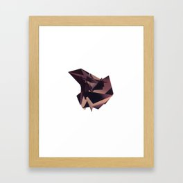 3D purple flying object Framed Art Print