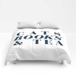 Cats Books and Tea Comforters