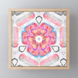 Pink Viola Hybrid Flower Abstract Art Watercolor Framed Mini Art Print