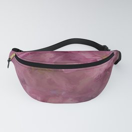 Pink flower painting - by Brian Vegas Fanny Pack