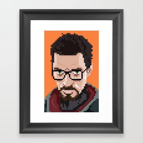Gordon Freeman portrait Framed Art Print
