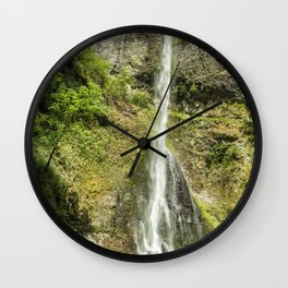 Double Falls Wall Clock