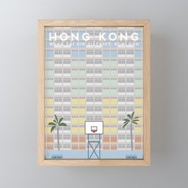 Wong Tai Sin District, Kowloon, Hong Kong Travel Poster Framed Mini Art Print