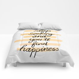 Seeking Happiness Comforters