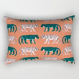Orange, Blush & Green Tigers Rectangular Pillow