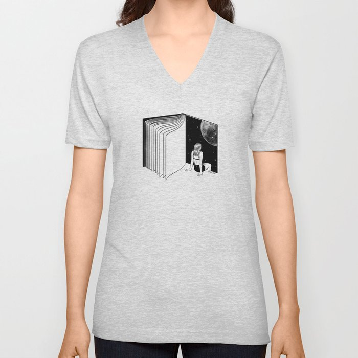 Reading is Dreaming with Your Eyes Open Unisex V-Neck