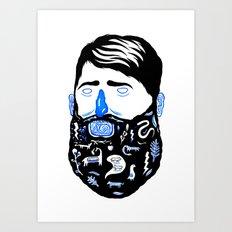 Animal Beard Art Print