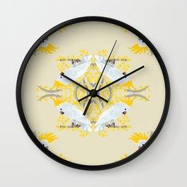 Natural Cockatoo Wall Clock