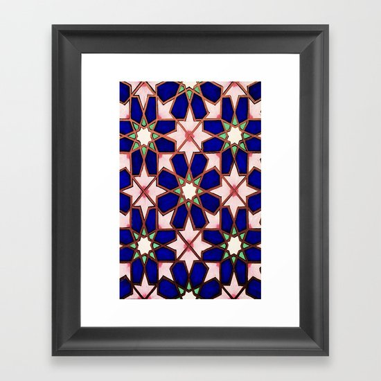 blue geo  Framed Art Print